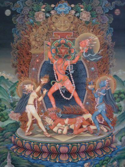 Чиннамаста, богиня Чиннамаста, энергетический канал (инициация)